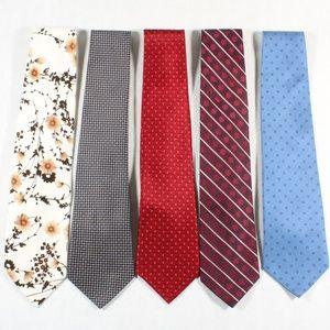 Other - Bundle of 5 Men's Neckties Formal Silk Tie Classic